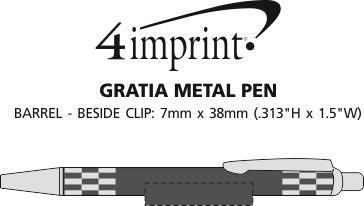 Imprint Area of Gratia Metal Pen