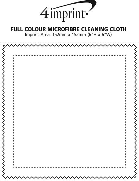 Imprint Area of Full Colour Microfibre Cleaning Cloth