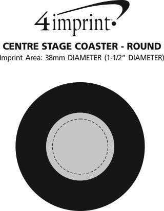Imprint Area of Centre Stage Coaster - Round