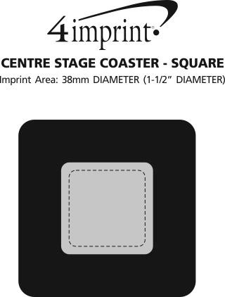 Imprint Area of Centre Stage Coaster - Square