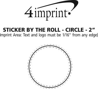 Imprint Area of Full Colour Sticker by the Roll - Circle - 2""