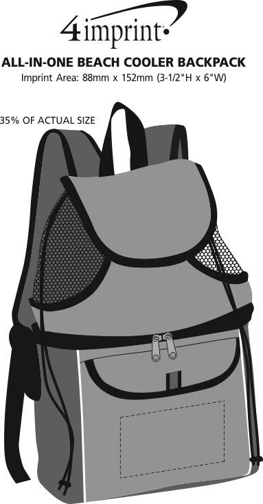 Imprint Area of All-in-One Beach Cooler Backpack