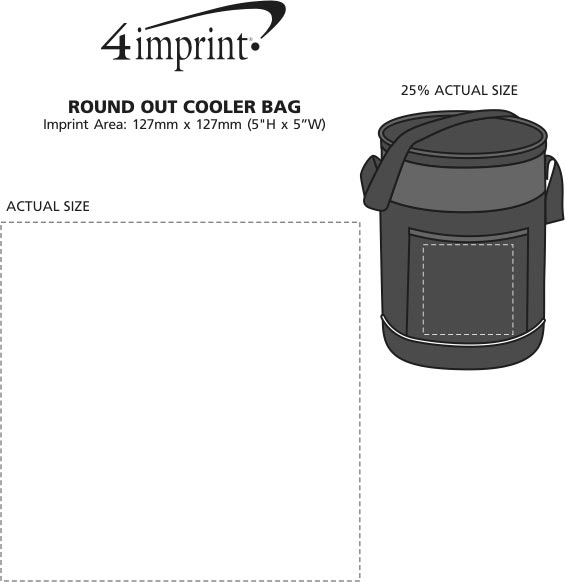 Imprint Area of Round Out Cooler Bag