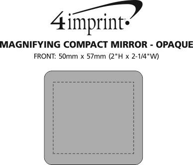 Imprint Area of Magnifying Compact Mirror - Opaque
