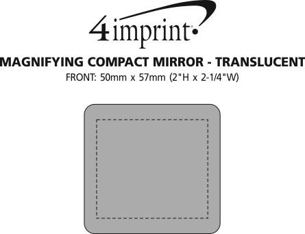 Imprint Area of Magnifying Compact Mirror - Translucent