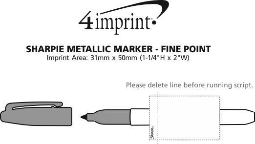 Imprint Area of Sharpie Metallic Marker - Fine Point