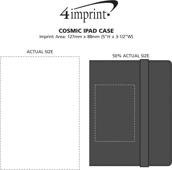 Imprint Area of Cosmic iPad Case