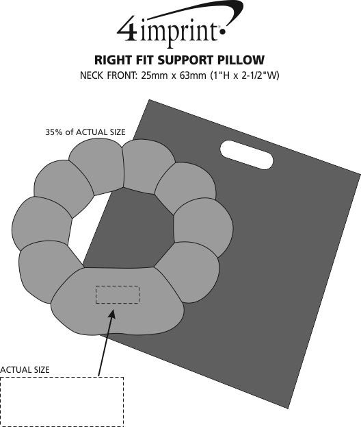 Imprint Area of Right Fit Support Pillow