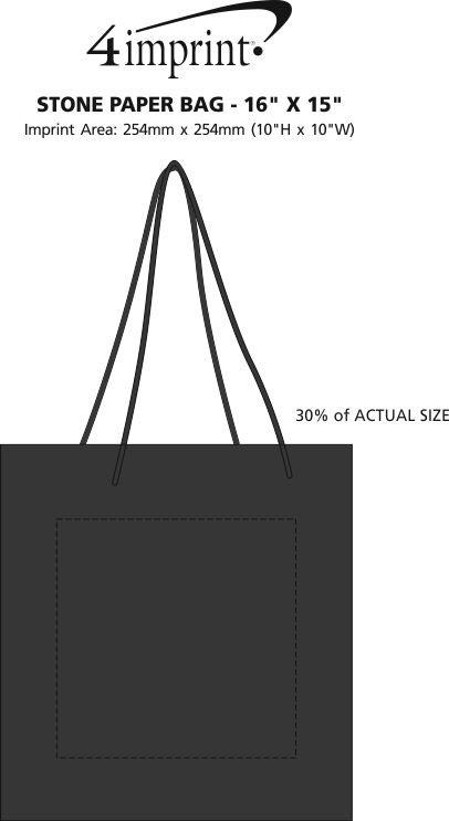 "Imprint Area of Stone Paper Bag - 16"" x 15"""