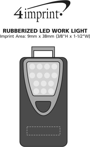 Imprint Area of Rubberized LED Work Light