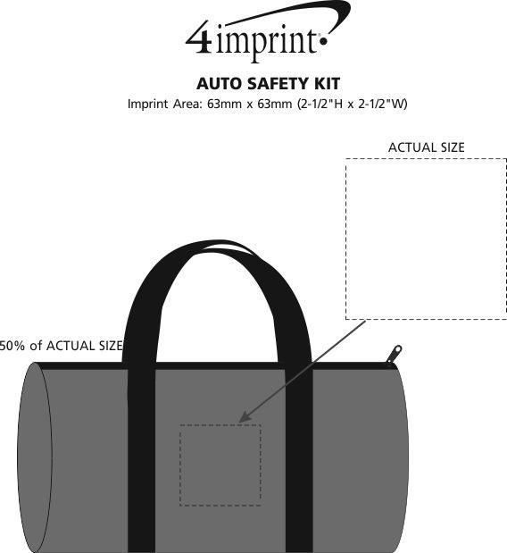 Imprint Area of Auto Safety Kit