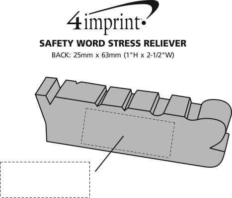 Imprint Area of Safety Word Stress Reliever