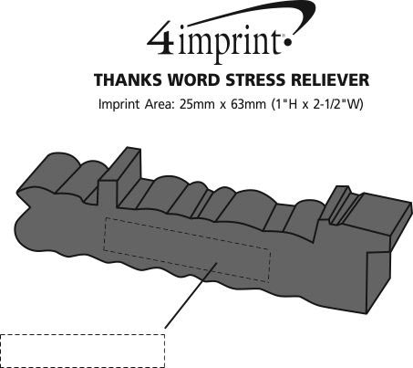 Imprint Area of Thanks Word Stress Reliever