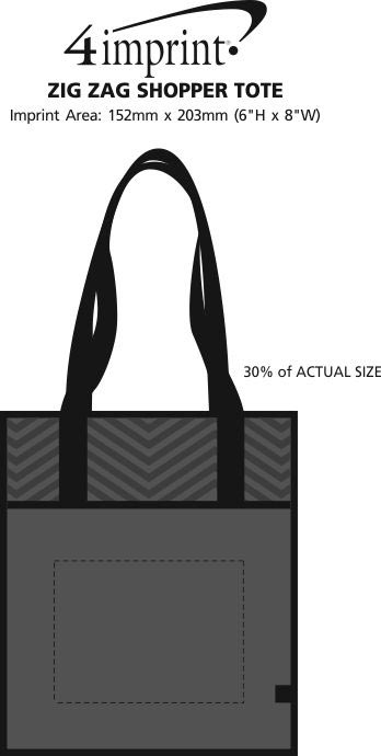 Imprint Area of Zig Zag Shopper Tote
