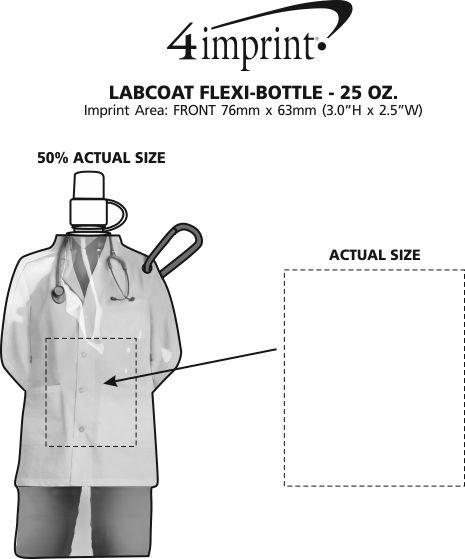 Imprint Area of Labcoat Flexi-Bottle - 25 oz.