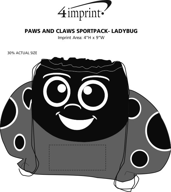 Imprint Area of Paws and Claws Sportpack - Ladybug