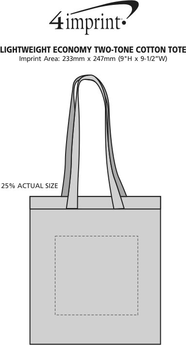 Imprint Area of Lightweight Two-Tone Cotton Tote