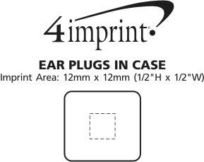 Imprint Area of Ear Plugs in Case