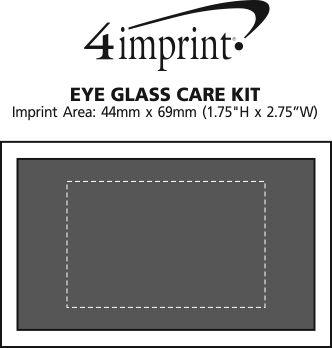 Imprint Area of Eyeglass Care Kit