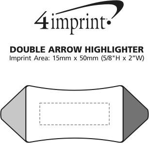 Imprint Area of Double Arrow Highlighter