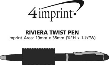 Imprint Area of Riviera Twist Pen