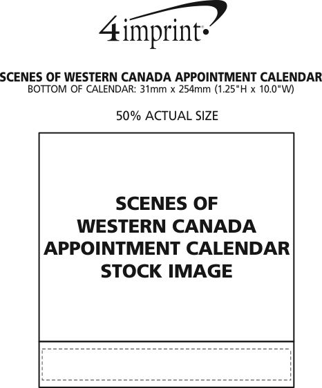 Imprint Area of Scenes of Western Canada Appointment Calendar