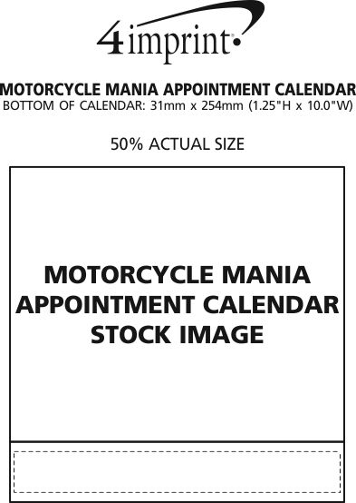 Imprint Area of Motorcycle Mania Appointment Calendar