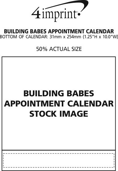 Imprint Area of Building Babes Appointment Calendar