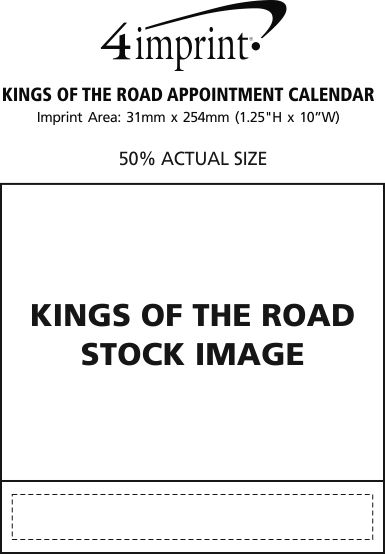 Imprint Area of Kings of the Road Appointment Calendar