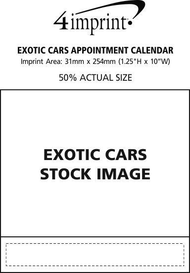 Imprint Area of Exotic Cars Appointment Calendar