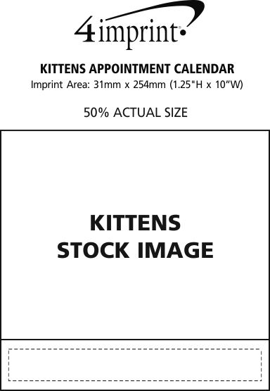 Imprint Area of Kittens Appointment Calendar