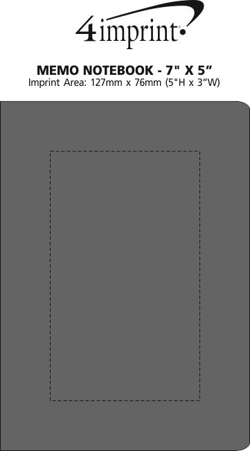 "Imprint Area of Memo Notebook - 7"" x 5"""