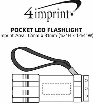 Imprint Area of Pocket LED Flashlight