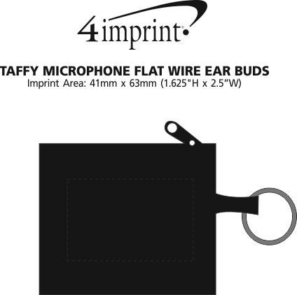 Imprint Area of Taffy Microphone Flat Wire Ear Buds