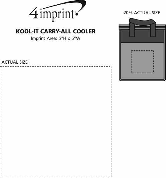 Imprint Area of Kool-it Carry-All Cooler - Closeout