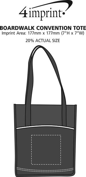 Imprint Area of Boardwalk Convention Tote