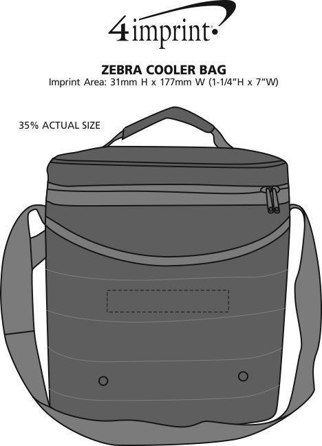 Imprint Area of Zebra Cooler Bag