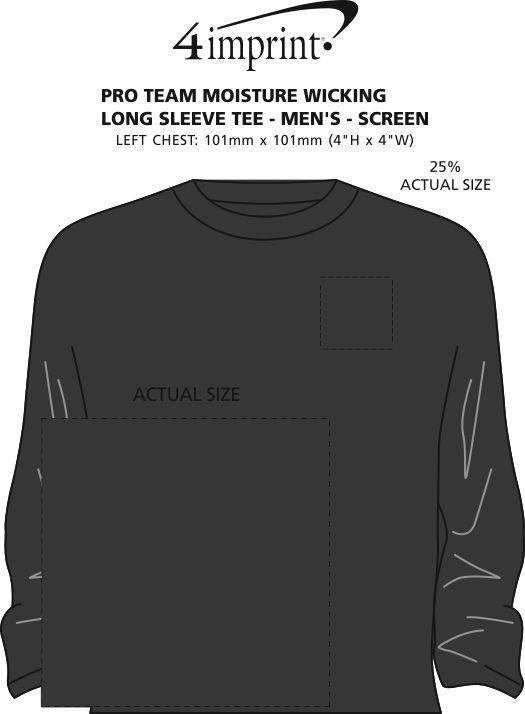 Imprint Area of Pro Team Moisture Wicking Long Sleeve Tee - Men's - Screen