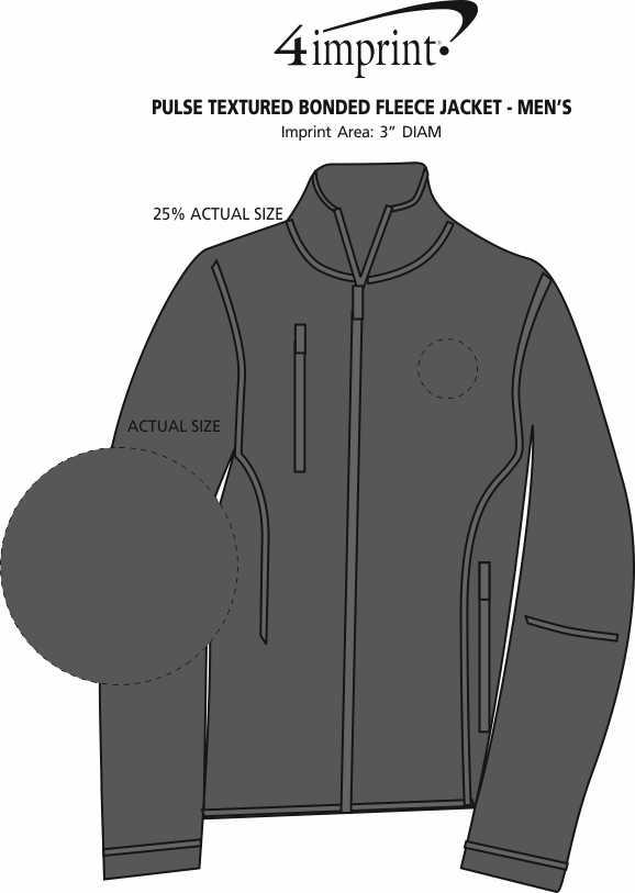 Imprint Area of Pulse Textured Bonded Fleece Jacket - Men's