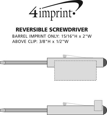 Imprint Area of Reversible Screwdriver