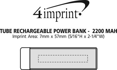 Imprint Area of Tube Rechargeable Power Bank