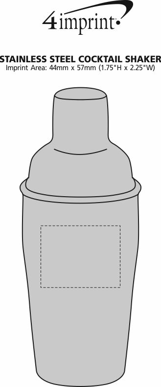 Imprint Area of Stainless Steel Cocktail Shaker