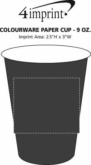 Imprint Area of Colourware Paper Cup - 9 oz.