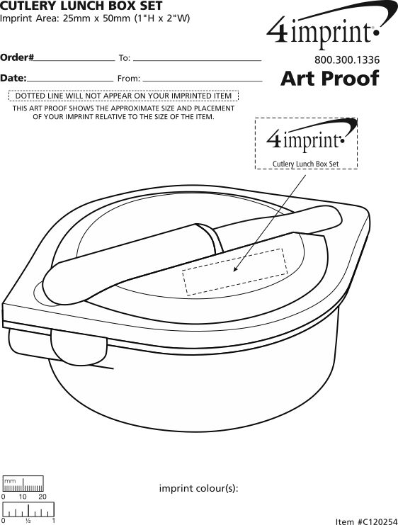 Imprint Area of Cutlery Lunch Box Set