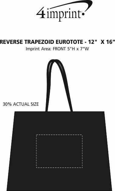 """Imprint Area of Reverse Trapezoid Eurotote - 12"""" x 16"""""""