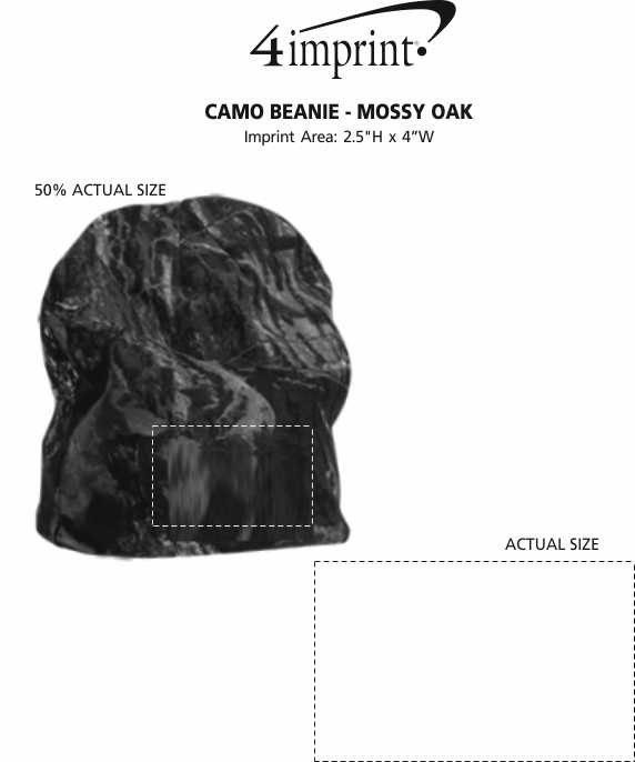Imprint Area of Camouflage Beanie - Mossy Oak