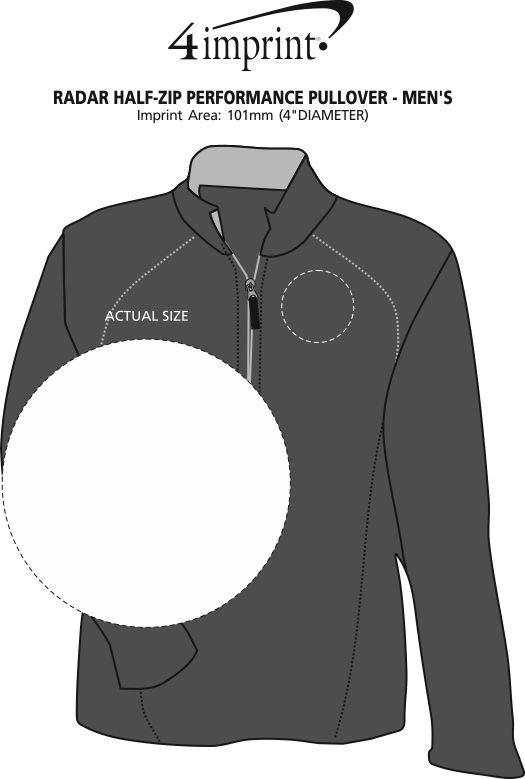 Imprint Area of Radar 1/2-Zip Performance Pullover - Men's