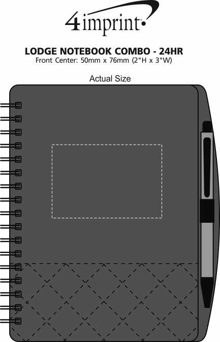 Imprint Area of Lodge Notebook Combo - 24 hr