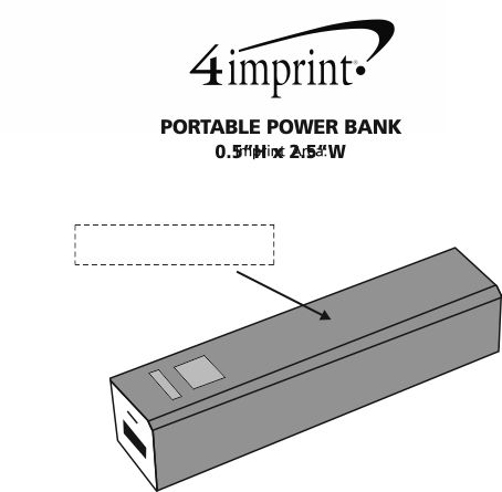 Imprint Area of Portable Power Bank - 2200 mAh