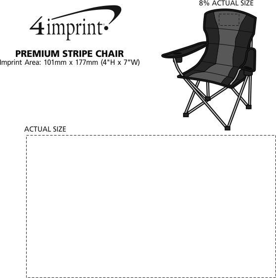 Imprint Area of Premium Stripe Chair